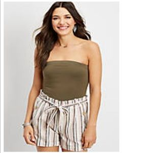 Like New Maurices Olive Tube Top